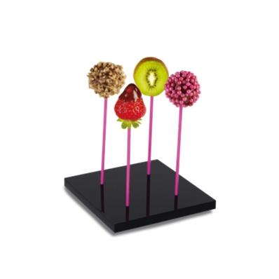 Présentoir cake-pops acrylique noir