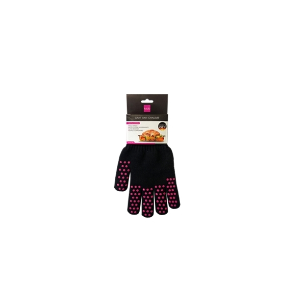 Gant Anti-chaleur 100% coton noir