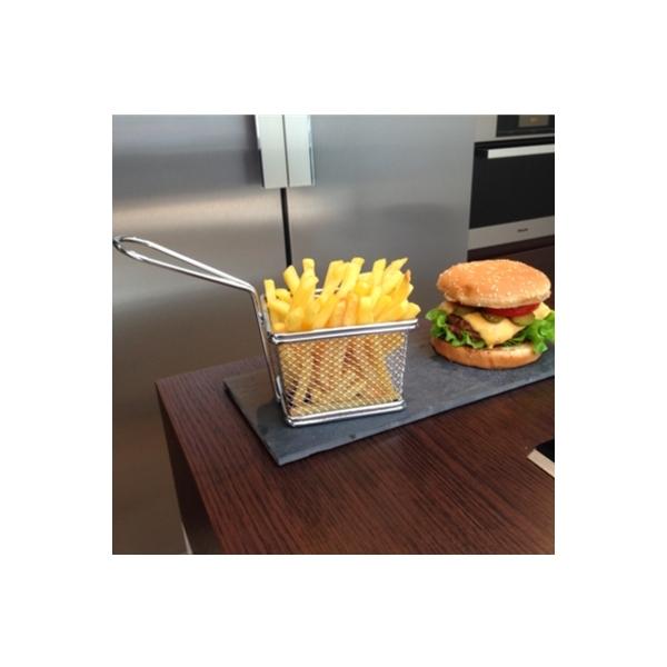 Mini panier friteuse deco po le cuisine inox for Panier rangement cuisine inox