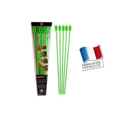 20 brochettes de présentation 24cm (vert)