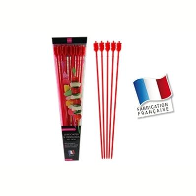 20 brochettes de présentation 24cm (rouge)