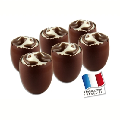 6 verrines OEUFS CHOCOLAT