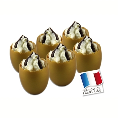 6 verrines OEUFS OR
