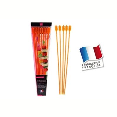 20 brochettes de présentation 24cm (orange)